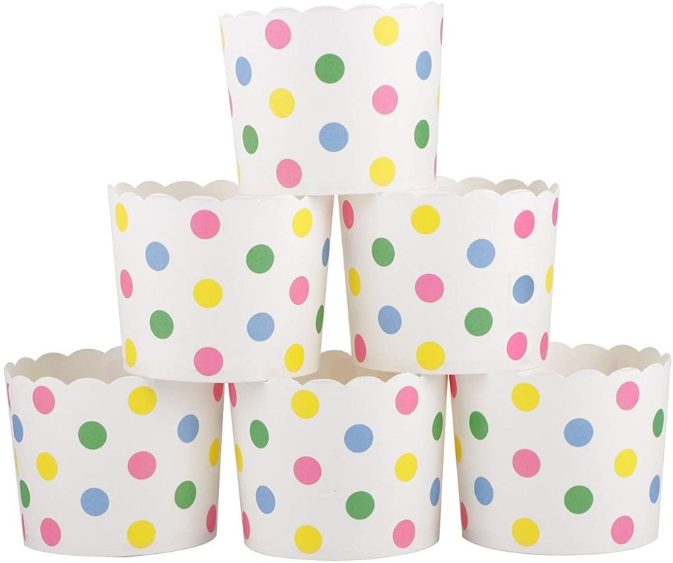 Greaseproof Polka Dots Cupcake Dessert Paper Muffin Cases